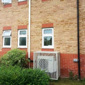 air conditioning mounted unit at care home