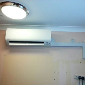 air conditioning unit installed in care home