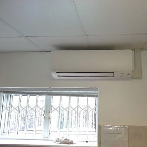 air conditioning unit installed in kitchen