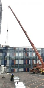 swansea university installing air conditioning unit