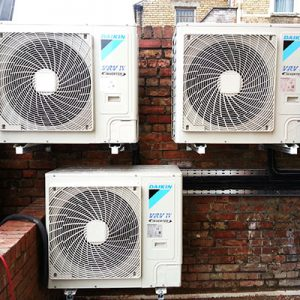 daikin air conditioning units installed oxford townhouse