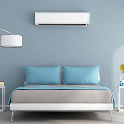 air conditioning unit in bedroom