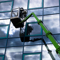 clearing windows on access lift