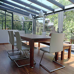 conservatory with table
