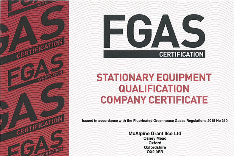 FGAS Certificate 2017-2020