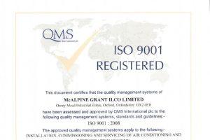 iso 9001 registered certifcate