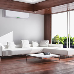 air conditioning unit in lounge