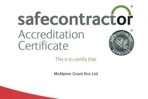 safe contractor accreditation certifcate