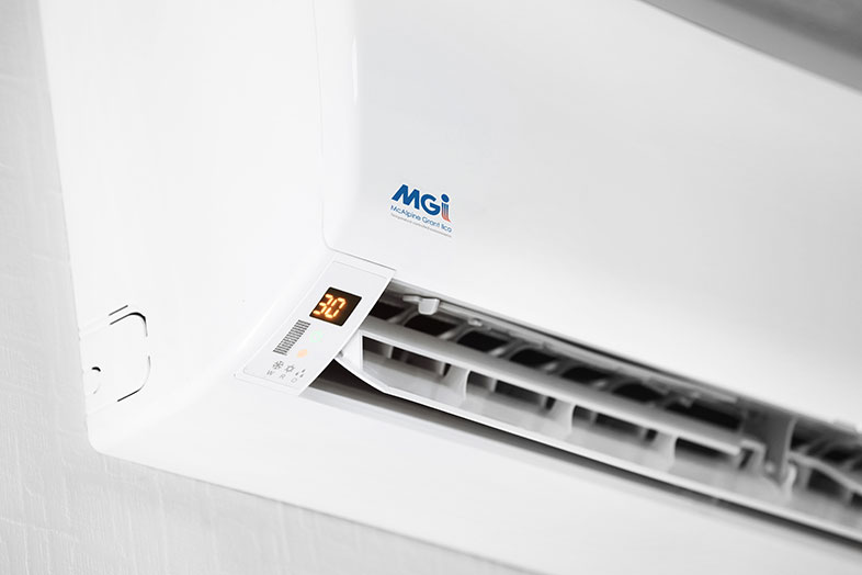 air conditioning unit mounted on wall